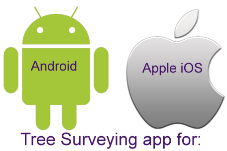 Tree Survey app for android or apple iOS